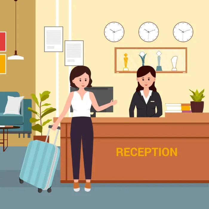 Good Receptionist in a Hotel - UPbook