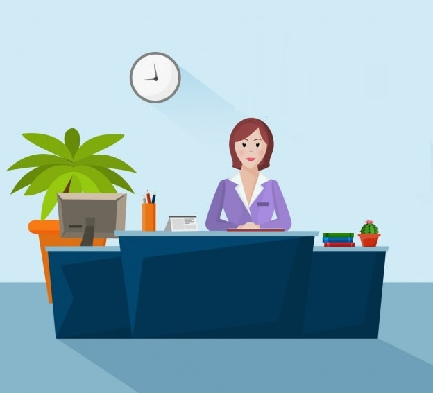 What should a receptionist say when answering the phone? - UPbook